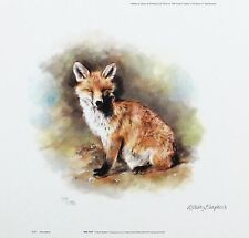 "Mandy shepherd ""red fox"" wildlife print ltd ed signé! taille: 23cm x 24cm neuf rare"