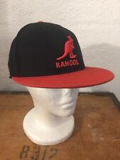 Kangol Brand Flex Fit Wool Baseball Cap, Flat Brim Hat Size Small 6 7/8- 7 1/4