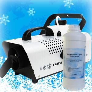 Wireless Control Snow Machine 600W Plus 1L Liquid Party DJ Stage Snow Effect
