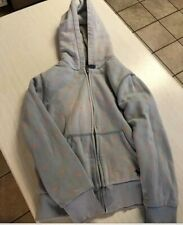 Mini Boden shaggy polka dot zip up hoodie- Girls Size 11-12 years