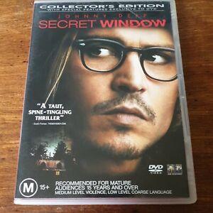 Secret Window DVD R4 Like New! FREE POST