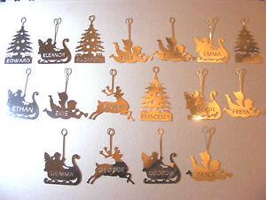 x1 carousel charm LETTERS E, F, G, personalised name, christmas tea light, gift