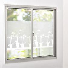 [casa.pro]® Sichtschutzfolie Milchglas Blumen - 67,5 cm x 2 m - statisch Fenster