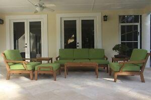 Sack A-Grade Teak Wood 7pc Sofa Lounge Chair Set Outdoor Garden Patio New