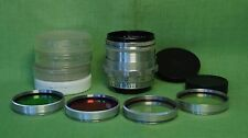 NICE BIOTAR 58 / 2 RED T CARL ZEISS JENA LENS for camera SLR, DLSR + 4x filters