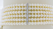 Pearl Diamond Bracelet 14K White Gold