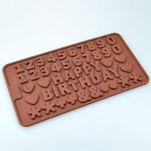 Happy Birthday Silicone Mould Writing & Numbers Kids Cake Toppers Mold