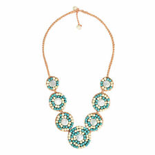 Pearl Handmade Necklace Classy Turquoise Embellished Coin