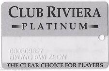 Club Riviera Platinum Las Vegas Hotel Casino Player's Rewards card -Scarce HTF