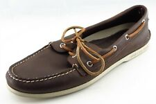 Sperry Top-Sider Shoes Sz 11.5 W Round Toe Brown Boat Shoe Leather Men