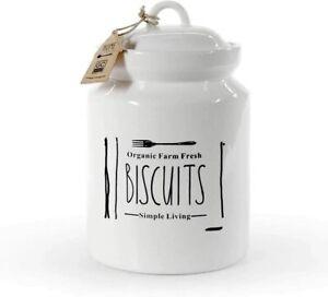 Biscottiera in ceramica barattolo salva biscotti dolci cucina shabby chic