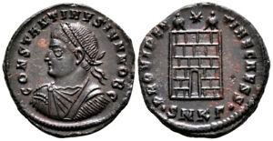CONSTANTINE II (326-327 AD) Scarce Follis. Cyzicus #NB 7820