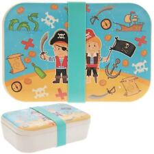 Pirate Lunch Box Childs Portable Food Storage Bamboo Eco Sustainable Container