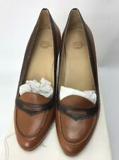 Laura Ashley Tan Leather High Heel Shoes UK 6 Nearly New