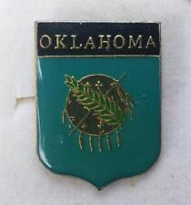 "OKLAHOMA OSAGE NATION SHIELD Pin Back Lapel Hat Pin 1"" TALL lot S5"