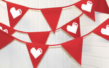 Fabric Hearts 1-5 m Party Banners, Buntings & Garlands