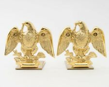 """Vintage Baldwin Brass Eagle Bookends Forged in Usa Patriotic 5.25"""" Tall"""