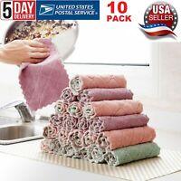10 PACK Kitchen Towel Dish Cloth Super Absorbent Tea Towels 26x16cm Utopia Towel
