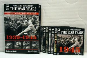 The War Years1939-45  DVD 7 Disc Set Daily Mail Autumn Video promotion FREE POST