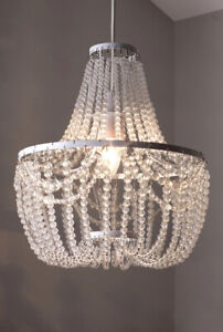 BNIB Next Tahlia Easy Fit Shade Beaded Chandelier Crystal Ceiling light Pendant