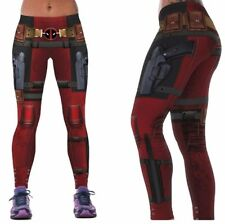 Marvel Comics DEADPOOL Suit Up Yoga Pants osfm Leggings