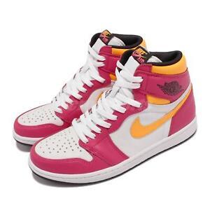 Nike Jordan 1 Retro High OG Light Fusion Red White Yellow Men AJ1 555088-603