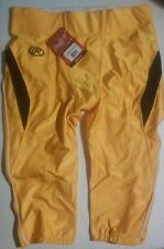 Rawlings Football Pants Yellow Mens Size Large Adult