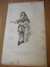 COMTE DE TOURVILLE ANNE DE COSTENTIN  MARECHAL DE FRANCE  EN 1693 GRAVURE 19°