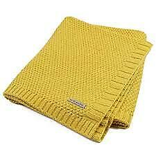 "Baby Blanket Knit Toddler Blankets For Boys And Girls (Mustard Yellow,40""x30"")"
