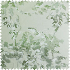 Artístico Pintura Stroked Grande Modelo Floral Verde Color Blanco