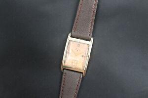 1944 Lord Elgin 21 Jewel Gold Fancy Tank Style Men's Vintage Watch