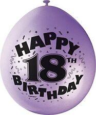 MIX PARTY Pack per decorazione festa con tanti auguri Stampato Palloncini 18 anni