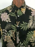 Tori Richard Mens L Cotton Lawn Short-Sleeve Aloha Hawaiian Shirt USA Made