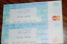 Pair Ticketmaster Lexus Eric Clapton Tickets United Center Chicago April 9, 1998
