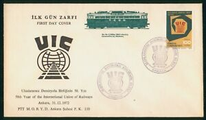 Mayfairstamps Turkey 1972 UIC Railway Cachet Train First Day Cover wwp2101