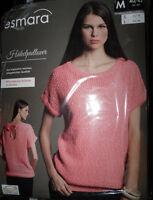 Damen Häkel-pullover * M 40/42 * Rosa/Weiß meliert * Kurzarm * esmara * OVP