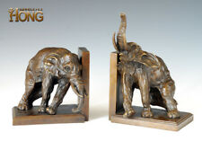 "11.2"" Art Deco Sculpture Book End Elephant Animal Bronze Statue"