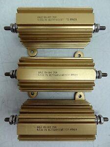 LOT OF 3 DALE RE77G4R53 POWER RESISTORS RH-100 75W 1% ***NEW*** FREE S&H
