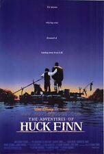 THE ADVENTURES OF HUCK FINN Movie POSTER 27x40 Elijah Wood Courtney B. Vance