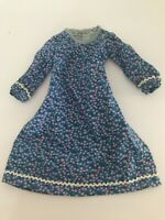Vintage Doll Dress Calico China Head Mache Pink Blue Handmade Primitive