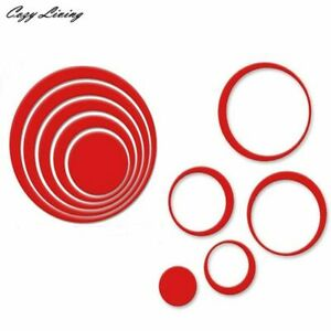 Wall Sticker Decor Circle Stereo Removable 3D Wall Sticker 5pc Set