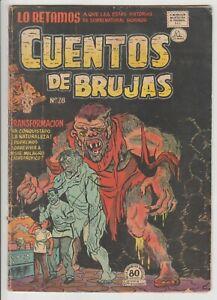 CUENTOS DE BRUJAS #28 MEXICAN LA PRENSA 1954 WITCHES TALES #14 HORROR HARVEY
