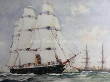 c1901 Print WARRIOR & BLACK PRINCE Britans First Ironclads 1861 by Charles Dixon