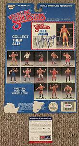 1985 HULK HOGAN Signed WWF LJN Figure Card BACK Wrestling WWE WCW PSA/DNA COA
