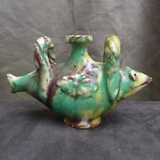 Nice quality 18th 19th. Century France (Bové) pottery jug in the shape of a fish