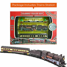 More details for classic battery operated train set with tracks light engine children kids toy