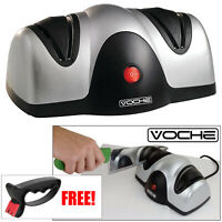 VOCHE® PROFESSIONAL ELECTRIC KNIFE & SCISSOR SHARPENER PLUS FREE SHARPENING TOOL