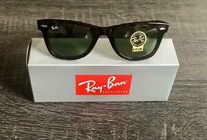 Ray-Ban Wayfarer Sunglasses RB2140 902 50mm Tortoise Shell Frame/G-15 Green Lens