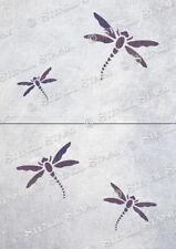 Dragonfly STENCIL Set x4 DZ Vintage Furniture Fabric Craft, SUPERIOR 250 MYLAR