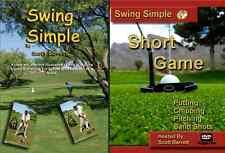 (Signed) Swing Simple Full Swing & Short Game  Golf Instruction dvd video